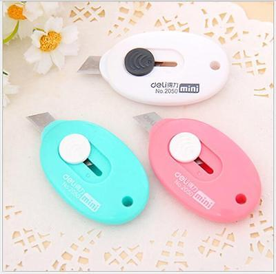 Office Stationery Mini Portable Knife Paper Cutter Cutting Paper Razor Blade Key