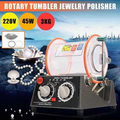 3kg Rotary Tumbler Jewelry Finisher Polisher Machine Polishing With Bead 220V