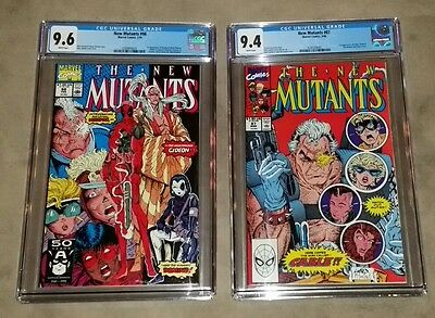 New Mutants #98 Cgc 9.6 & #87 Cgc 9.4 1St Deadpool & 1St Cable Free Shipping