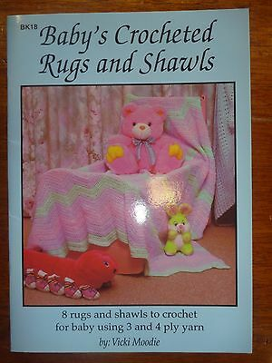 Crochet Pattern - Baby's Crocheted Rugs & Shawls - 3 & 4 Ply - Craft Moods