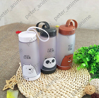 TV Show We Bare Bears Grizzly Water Cup Hand Cups Student Kids Cute Gift 500ML