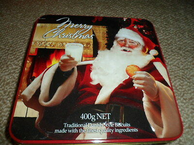 Collectable empty Christmas  biscuit tin