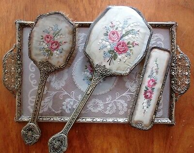 Vintage English Dressing Table Set
