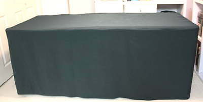 "6' X 30"" 4-Sided Trade Antique Arts & Crafts Show Tablecloths - Forest Green"