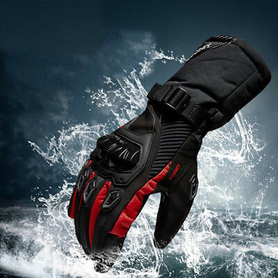 Black Motorcycle Waterproof Warm Gloves Riding Locomotive Touch Screen Gloves