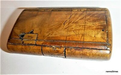 Authentic Georgian Burr-Wood Snuff Box - Superb Patination and Colour
