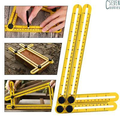 Measuring Instrument Angle-izer Four-Sided Ruler Template Tool Stainless Steel