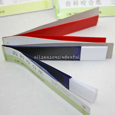 Dental Supplies Practical Articulating Soft Thin Strips Paper 20 Books Blue/Red