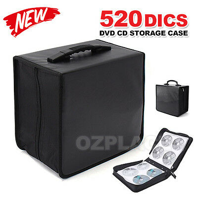 New 520 Disc DVD CD Storage Case Album Folder Wallet Carry Bag Organizer Black