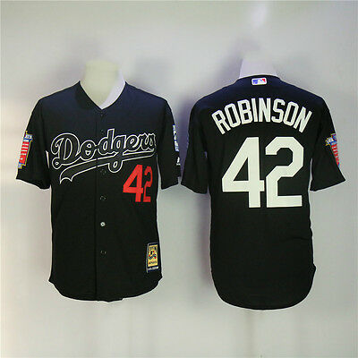 Jackie Robinson Men's Black Honors Los Angeles Dodgers NO.42 Jersey-Stitched
