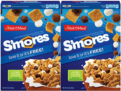 911550 2 x 340g BOXES OF S'MORES AMERICAN HONEY GRAHAM CEREAL WITH MARSHMALLOWS!