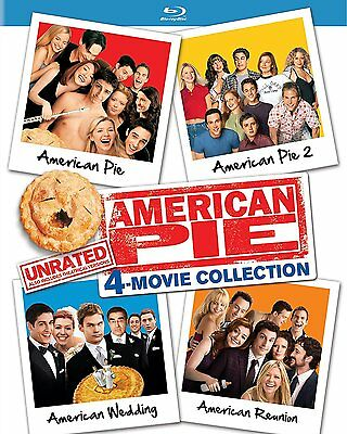 AMERICAN PIE 1-4 Box Set Four Film Collection Region Free NEW BLU-RAY