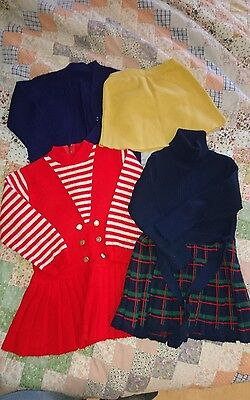 vintage baby girl wool dresses 1-2