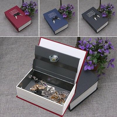 Large Dictionary Book-Appearance  Storage Box Money Secret Security Lock Case