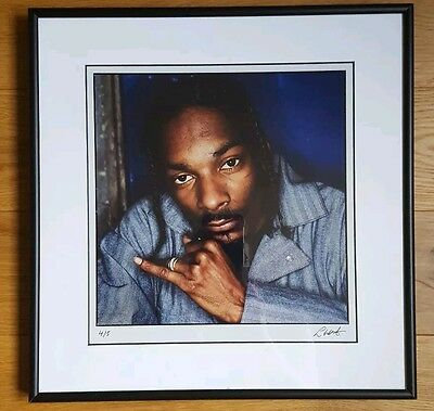 Snoop Dogg - original rare Lawrence Watson framed and numbered photo 8x8 inch