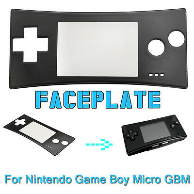 Black Front Faceplate Shell Case Cover Replace For Nintendo GameBoy Micro GBM