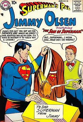 SUPERMAN JIMMY OLSEN 30 1st SERIES DC 10 CENTS AMERICAN COM + FREE FOIL BALLOON