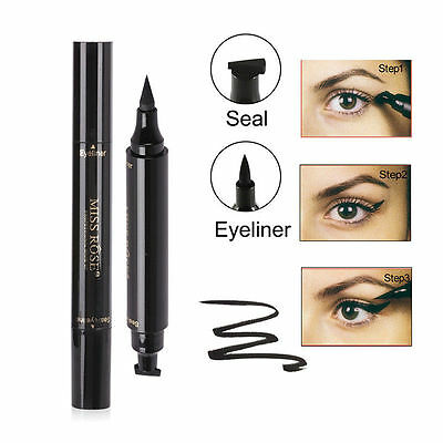 Winged Eyeliner Stamp Waterproof Makeup Eye Liner Pencil Black Liquid New