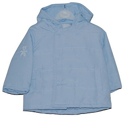 Baby Boys Microfibre Lightly Padded Hooded Teddy Jacket 3-6 Month