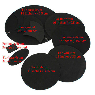 10PCS Bass Snare Silencer Drums Mute Silencer Drumming Practice Pads Set