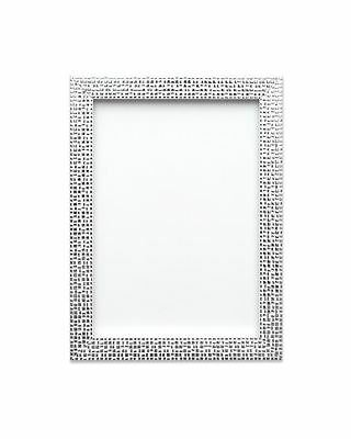 Modern Retro Flat Bright Mirror Effect Mosaic Picture Photo Poster Frame Silver