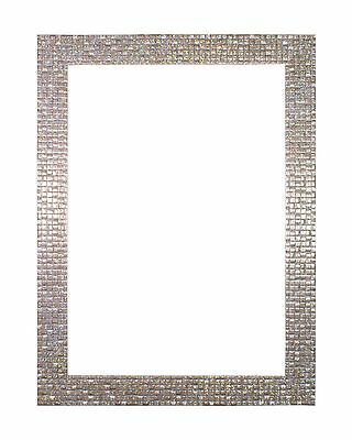 Modern Retro Flat Bright Mirror Effect Mosaic Picture Photo Frame Pearl Silver