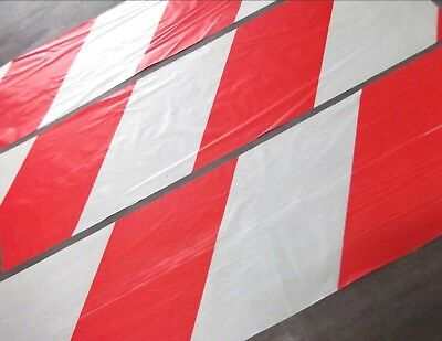 Red white barrier tape. Hazard. Warning. 30 Ft - 1500. Non-adhesive *Top Quality