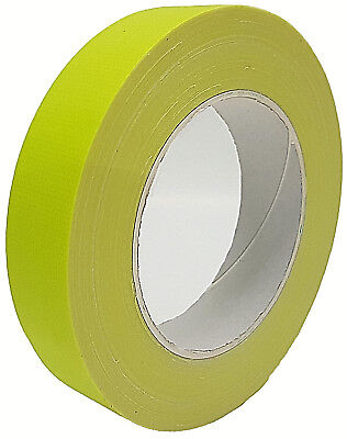 néon Gaffa ® bande scotch JAUNE anti-UV 25mm x 25m Bande tissée BANDE Blindée