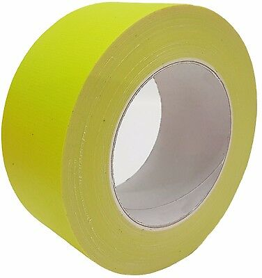 néon Gaffa ® 50mm x 25m bande scotch JAUNE anti-UV Bande tissée BANDE Blindée