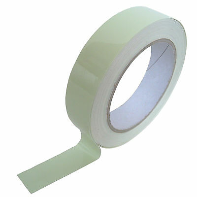 "Luminescent PVC Tape 25mm x 10m "" Glow-in-the-Dark "" Green Bright"
