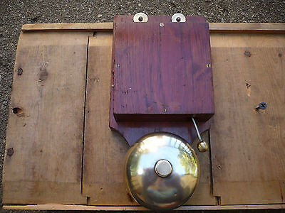 Antique/vintage Mahogany And Brass Butler Alarm Bell In Good Working Order