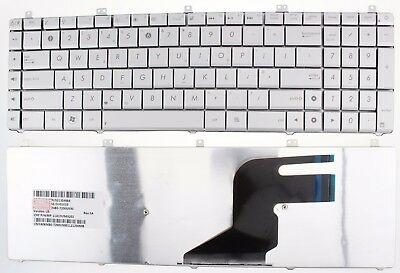 New Asus N55 N57 N55S N55Sf N55Sl N75Sf N75Sl N75 Keyboard Uk Layout Silver F78