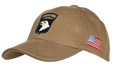 Casquette beige AIRBORNE 101st SCREAMING EAGLES JEEP CAP US VO MILITARIA US PARA