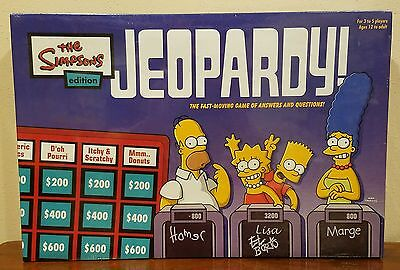 NEW The Simpsons Edition Jeopardy! Board Game Factory Sealed