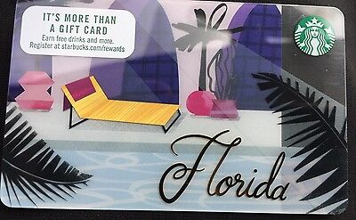 1 Lot Of 50 - Florida STARBUCKS Gift CARD  POOL Resort New HTF 2017