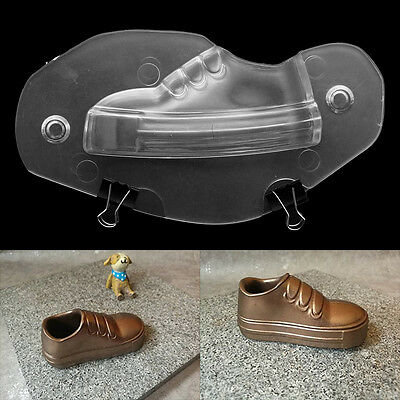 DIY 3D Baby Children Shoe Shape Mold Plastic Chocolate Ice Soap Mould + 2 Clips