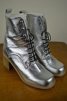 Vintage 90's Silver Ranger Ankle Boots Size 5