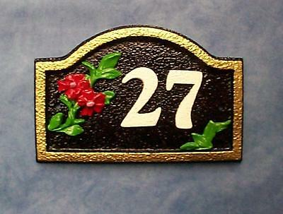 Real size house door number plaque sign decorative wall gate fence ornament