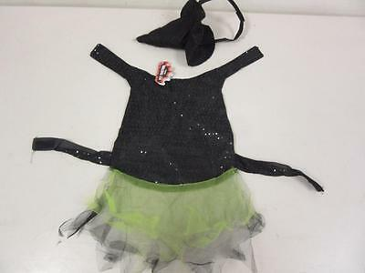 Pet Halloween Costume Witch Dress with Hat for Dog or Cat Size Medium