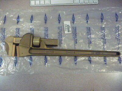 """AMPCO W-213 18"""" Bronze Straight Pipe Wrench New"""