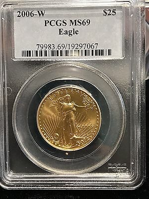 2006-W Burnished American Gold Eagle $25 Half-Ounce MS 69 PCGS 1/2 oz