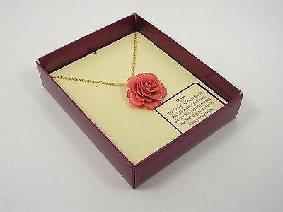 Real Pink Rose Pendant and 24k Gold Chain (Free Anniversary Gift Box)