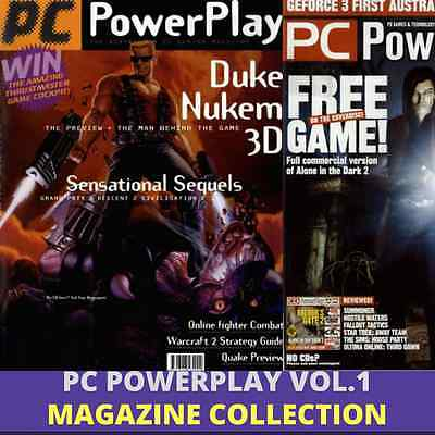PC POWERPLAY MAGAZINE VOL.1 - 25 Rare Issues|Vintage Retro Gaming - 2 Data DVD's