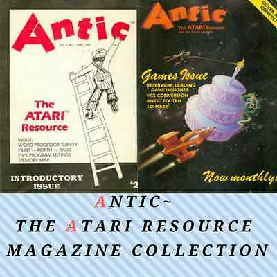 ANTIC Atari  MAGAZINE! Collection 84 ISSUES! Vintage, Retro Gaming ~ 2 Data DVDs