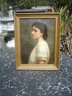 "Painting Antique ""victorian Young Lady"""