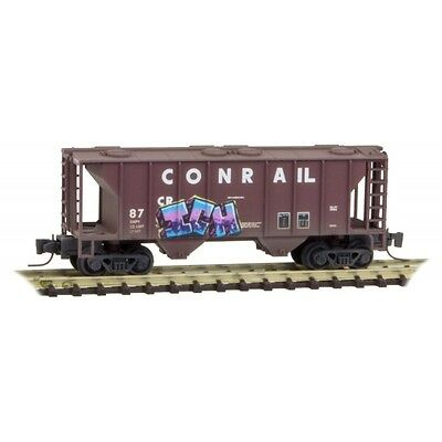 Micro-Trains MTL Z  Conrail 2 Bay Covered Hopper WEATHERED 53144240