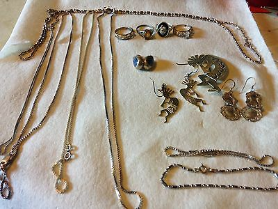 Sterling Silver 925 Lot 16 Pieces Vintage and  Modern