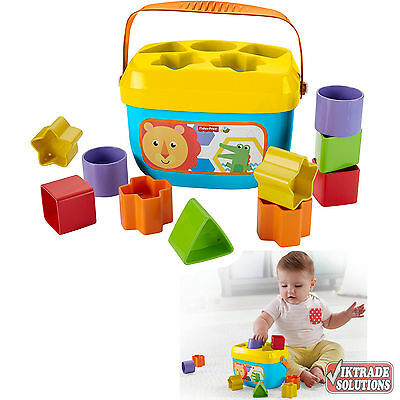 Fisher-Price Baby's First Blocks Introduces Colors Shapes Sort Stack Drop Play