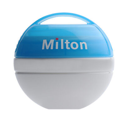 Milton Mini Portable Baby Soother Dummy Steriliser + 10 Free Tablets-Blue