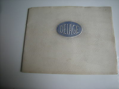 Catalogue Publicitaire DELAGE 1937